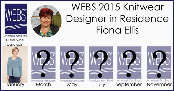 Fiona Ellis WEBS 2015 Knitwear Designer in Residence - learn more at blog.yarn.com