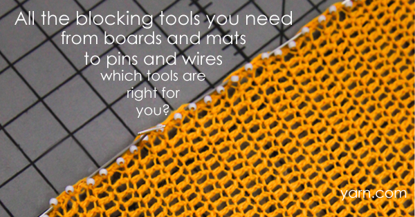 Blocking tools for every knitter and crocheter available at yarn.com