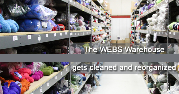 WEBS Warehouse gets cleaned and reorganized to prepare for 2015 events and sales - read more at blog.yarn.com