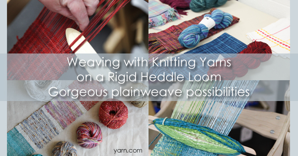 Weaving with knitting yarns on your rigid heddle loom can have fantastic results!
