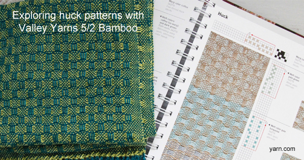 Exploring huck patterns with Valley Yarns 5/2 Bamboo - available at yarn.com