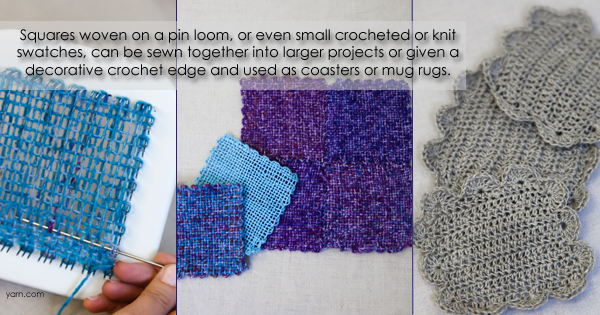 Ask WEBS Mar 10, 2015 - Using pin loom or Zoom Loom woven squares on the WEBS blog - blog.yarn.com