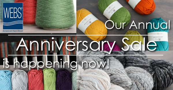 WEBS 41st Annual Anniversary Sale runs April 1 - May 1, 2015 - read more at blog.yarn.com