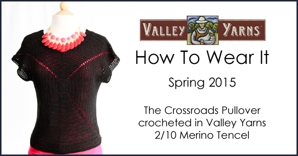 Valley Yarns: How to Wear It - The Crossroads Pullover