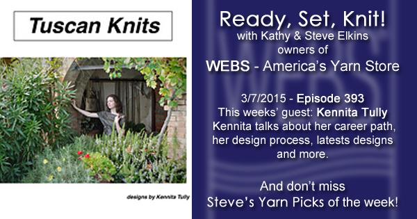 Ready, Set, Knit! ep. 393 - Kathy talks with Kennita Tully - listen now at blog.yarn.com