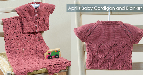 Aprilis Baby Cardigan and Blanket