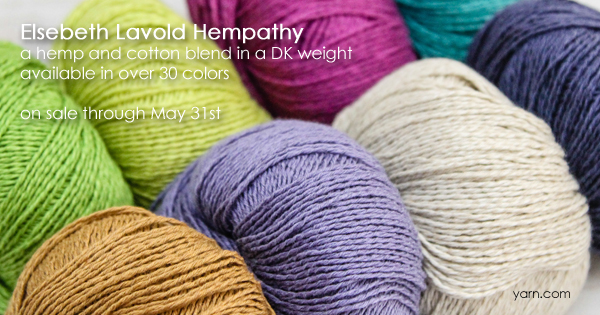 Elsebeth Lavold Hempathy, part of the WEBS Anniversary Sale, now through May 31st at yarn.com