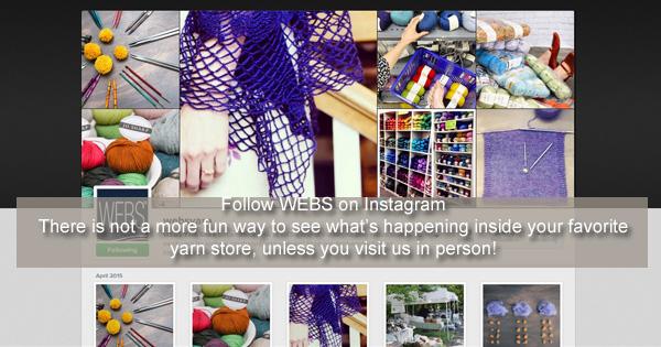 Follow @websyarn on Instagram - read more on the WEBS Blog at blog.yarn.com