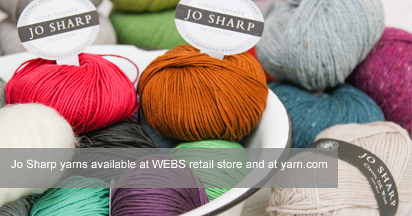Jo Sharp yarns available in the US at yarn.com - read more on the WEBS Blog at blog.yarn.com