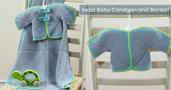 Maia Baby Cardigan and Blanket