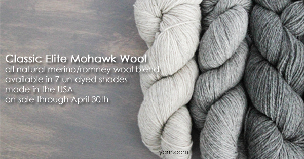 Classic Elite Mohawk Wool - part of the April sale yarns at WEBS Anniversary Sale - available at yarn.com
