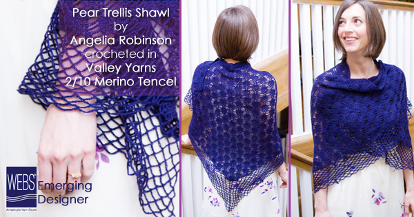 Pear Trellis Shawl launch
