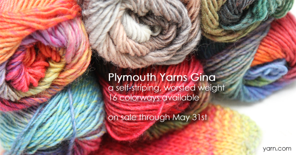 Plymouth Yarns Gina, part of the WEBS Anniversary Sale, now through May 31st at yarn.com