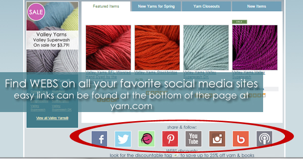 Finding WEBS on the web - social media links and online community on the WEBS Blog - read more at blog.yarn.com