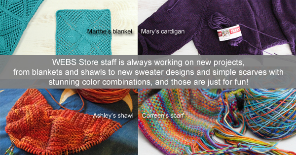 WEBS Store Staff Projects Spring 2015 - read more on the WEBS Blog - blog.yarn.com
