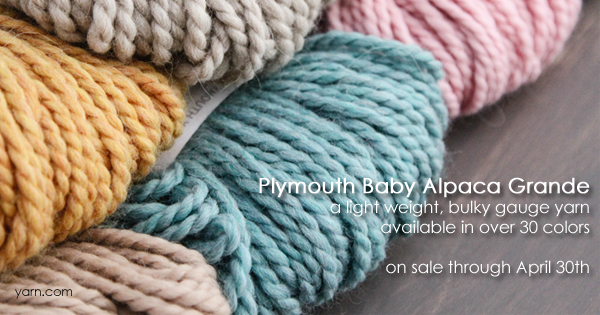 Plymouth Baby Alpaca Grande - part of the April sale yarns at WEBS Anniversary Sale - available at yarn.com