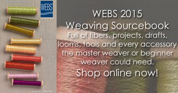 WEBS 2015 Weavers Sourcebook, shop online now at yarn.com