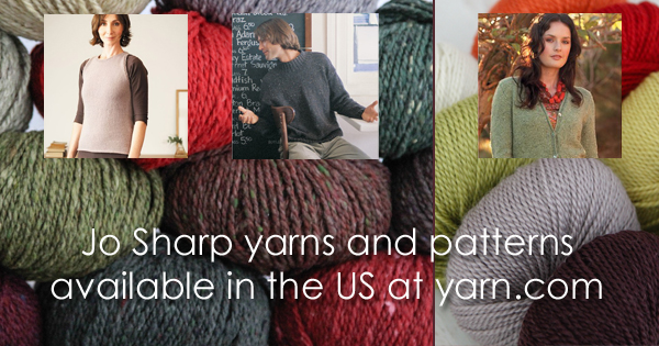 Jo Sharp yarns and pattern PDFs available at yarn.com