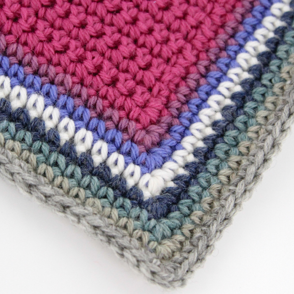 Single Crochet edge option for the WEBS MCAL Blanket, more on the WEBS Blog - blog.yarn.com