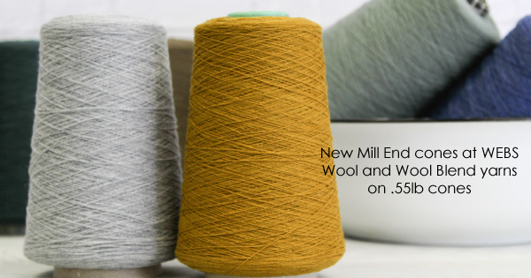 Mill End cones on sale at WEBS - more on the WEBS Blog, blog.yarn.com