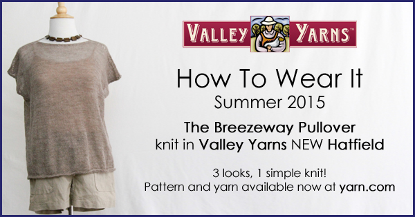 How to Wear It - The Breezeway Pullover. Show us how YOU wear your Valley Yarns knits, more info on the WEBS Blog at blog.yarn.com #VYwearit