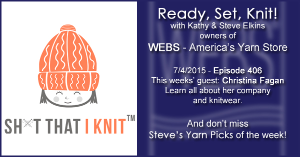 Ready, Set, Knit! episode #406 - Kathy talks with Christina Fagan. Listen now on the WEBS Blog - blog.yarn.com