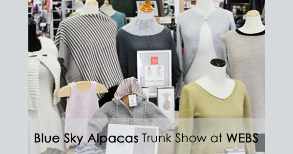 Blue Sky Alpacas Truck Show on display now at WEBS Retail store. Read more on the WEBS Blog - blog.yarn.com