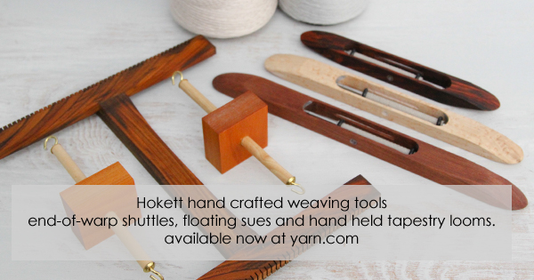 Hokett hand crafted weaving tools and looms. Read more on the WEBS Blog at blog.yarn.com