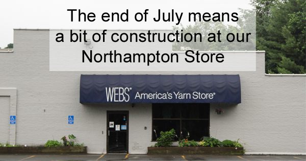 Restroom rennovations begin July 22, please plan extra stops before you arrive. Read more on the WEBS Blog - blog.yarn.com