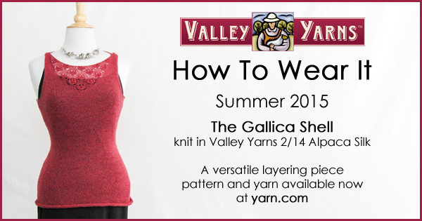 How to Wear It - The Gallica Shell. Show us how YOU wear your Valley Yarns knits, more info on the WEBS Blog at blog.yarn.com #VYwearit