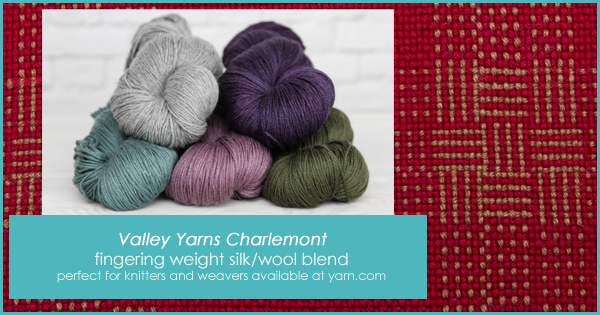 Valley Yarns Charlemont in the WEBS End of Summer Sale, until Aug. 22, 2015 at yarn.com An incredible sock yarn that works beautifully in woven fabrics. Read more on the WEBS Blog at blog.yarn.com