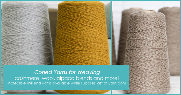 Coned yarns for weavers in the WEBS End of Summer Sale, until Aug. 22, 2015 at yarn.com Loro Piana Cashmere, Yorkshire Wool, Alpaca blends and Valley Yarns favorites. Read more on the WEBS Blog at blog.yarn.com