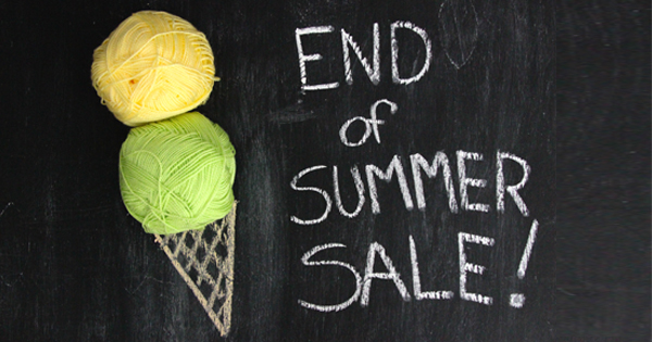 WEBS End of Summer Sale ends at 11:59 EDT on August 22, 2015. Take advantage of up to 60% off over 60 yarns and needles while you still can at yarn.com