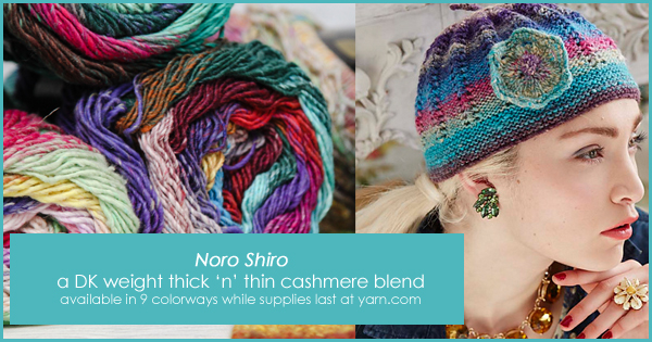 Noro Shiro in the WEBS End of Summer Sale, until Aug. 22, 2015 at yarn.com Perfect for the Eyelet Beanie. Read more on the WEBS Blog at blog.yarn.com