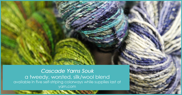 Cascade Souk in the WEBS End of Summer Sale, until Aug. 22, 2015 at yarn.com Great for hats, shawls, and colorful accessories. Read more on the WEBS Blog at blog.yarn.com