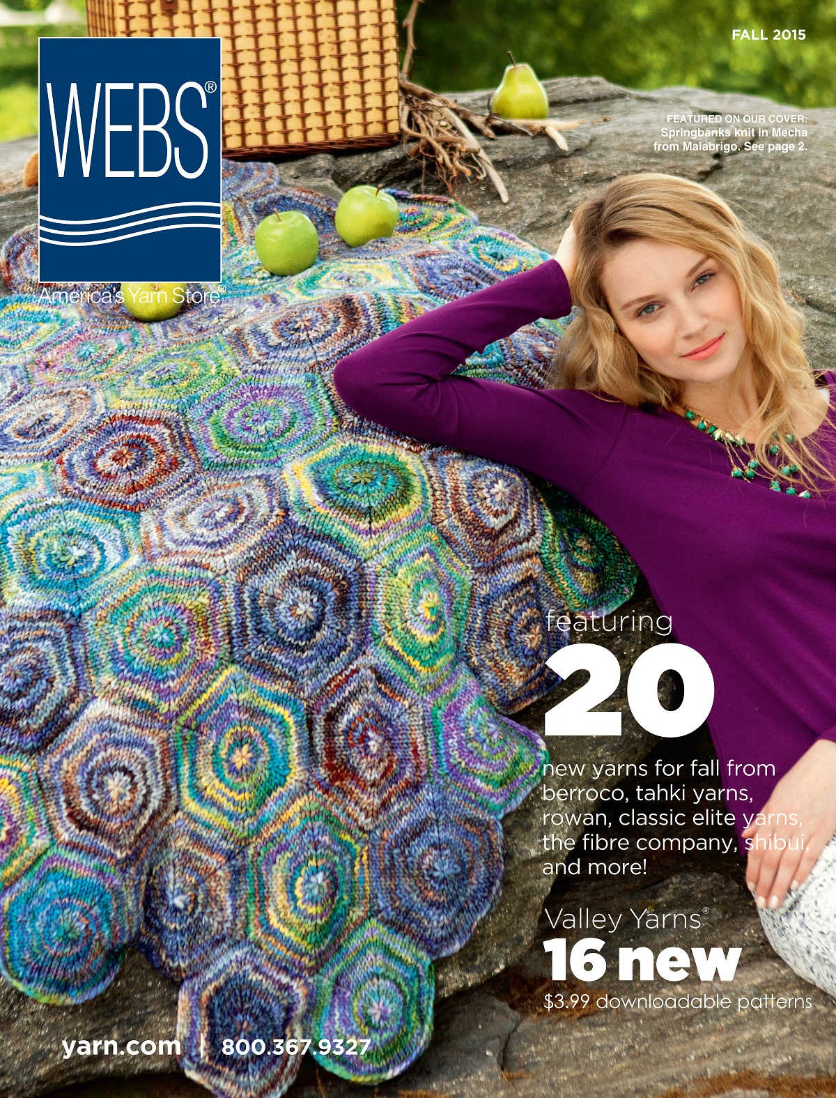 WEBS Fall 2015 Catalog, browse online now! Read more on the WEBS Blog at blog.yarn.com