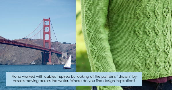 Design inspiration for Fiona Ellis, WEBS 2015 Designer in Residence - Changing Tack pullover. Read more on the WEBS Blog at blog.yarn.com