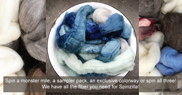 Purchase your fiber for Spinzilla now! Fiber packs and exclusive colorways available at yarn.com Read more on the WEBS Blog at blog.yarn.com
