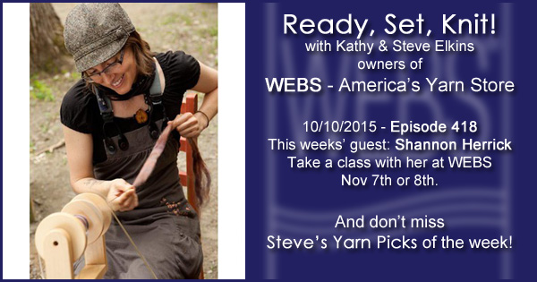 Ready, Set, Knit! episode #418 - Kathy talks with Shannon Herrick. Listen now on the WEBS Blog - blog.yarn.com