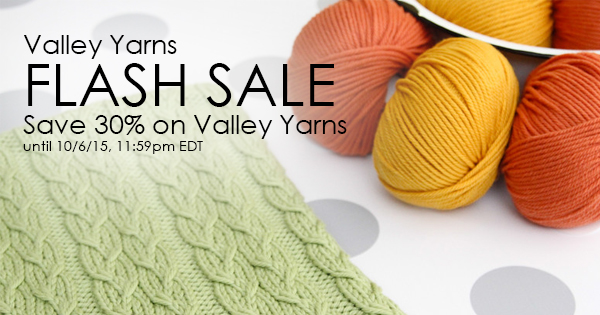 Valley Yarns Flash Sale at WEBS