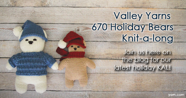 Valley Yarns 670 Holiday Bears KAL