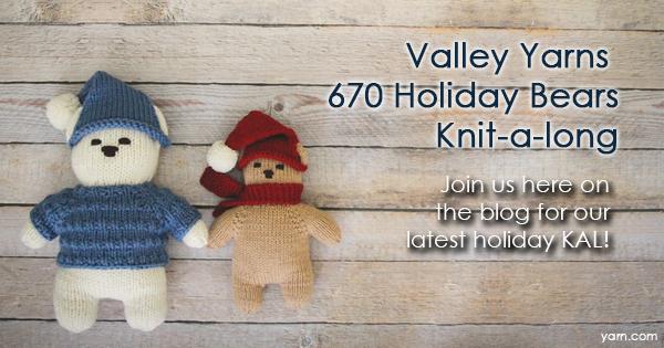 Valley Yarns 670 Holiday Bears KAL