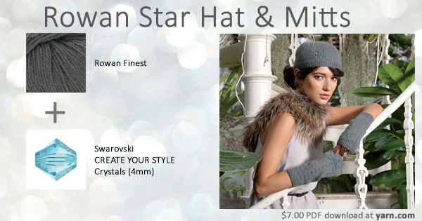Rowan Swarovski Star Hat & Mitts at yarn.com