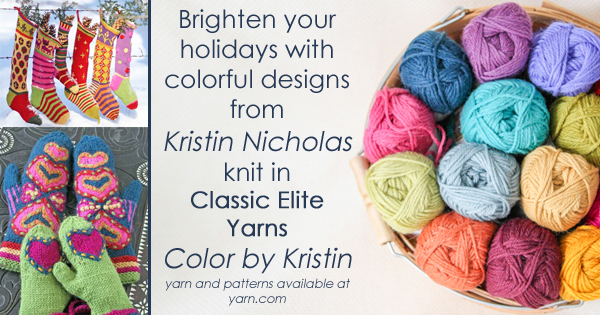 Colorful holiday gift ideas from Kristin Nicholas on the WEBS Blog. Read more at blog.yarn.com