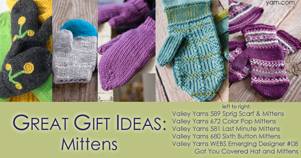 Quick gift knits, piles of mittens on the WEBS Blog, read more at blog.yarn.com