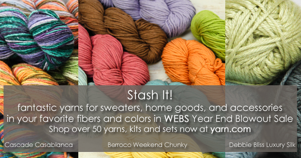 Great stash yarns in WEBS Year End Blowout Sale. Read more on the WEBS Blog at blog.yarn.com