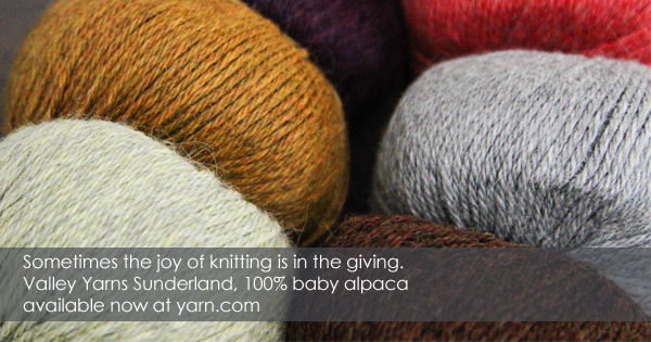 Knitting joy, gifts and more on the WEBS Blog at blog.yarn.com