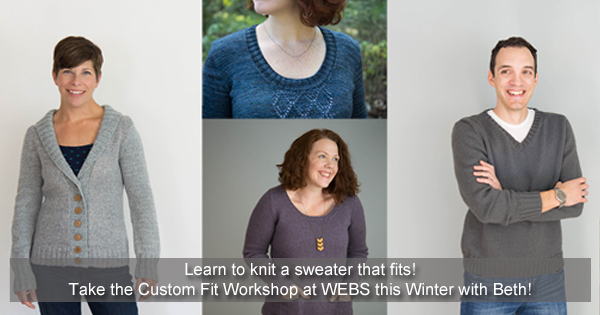 Take a Custom Fit Workshop at WEBS. Learn more on the WEBS Blog at blog.yarn.com
