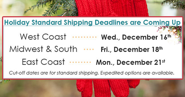 Holiday 2015 Shipping Deadlines at yarn.com