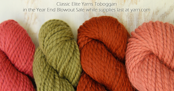 Classic Elite Yarns Toboggan in the WEBS Year End Blowout Sale Dec 22 - Jan 4. visit yarn.com for more details